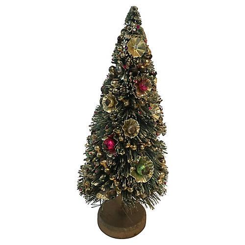 Decorated Bottle Brush Tree