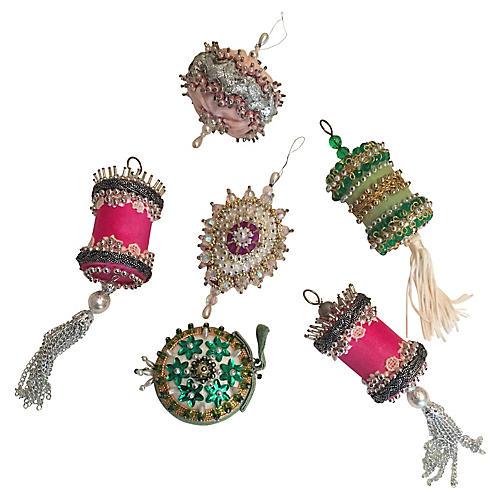 Beaded Ornaments, S/6