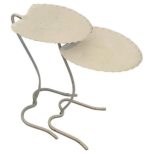 Salterini Nesting Lily Pad Tables, S/2