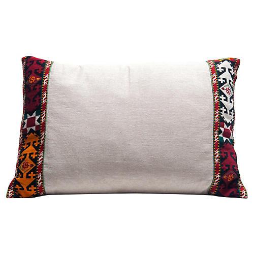 Linen Tribal Border Pillow
