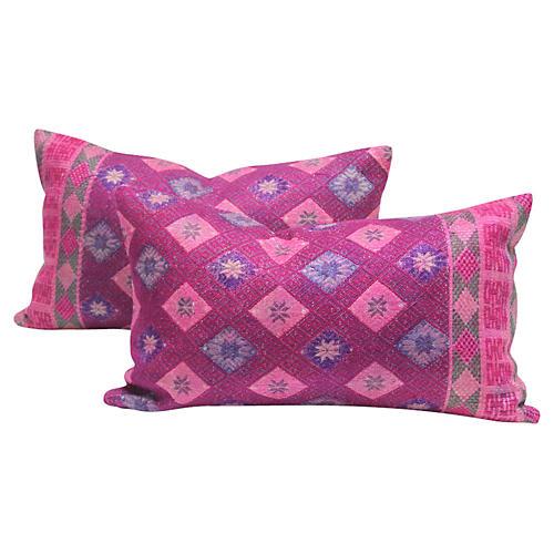 Benares Brocade Pillows, Pair