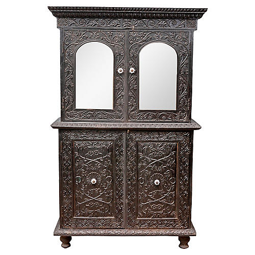 Indo-Portuguese Carved Buffet Cabinet