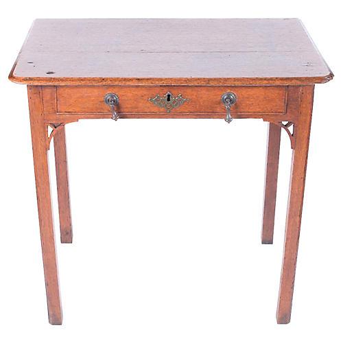 English Oak Georgian Side Table