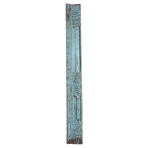 Antique Carved Turquoise Beam