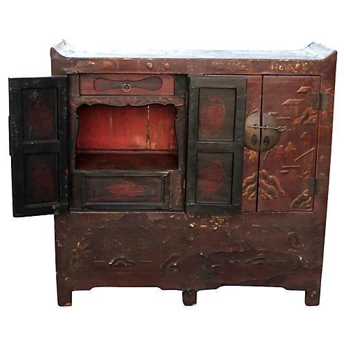 Antique Chinosierie Buffet Cabinet