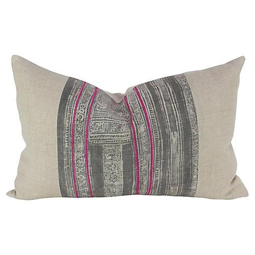 Ash Lumbar Batik Pillow