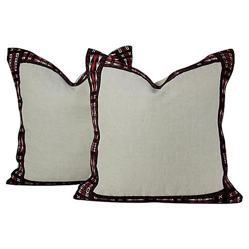 Arrow Linen Pillows, Pair