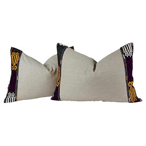 Maska Tribal Pillows, Pair
