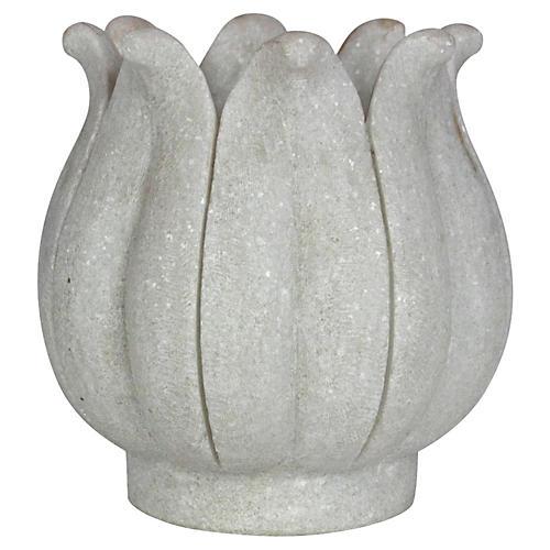 Marble Lotus Bud Vase
