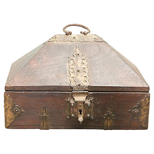 Teak & Brass Malabar Box