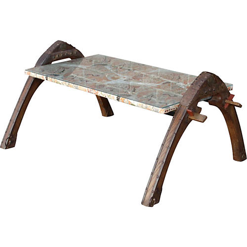 Oxcart Tribal Coffee Table