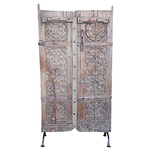 Anglo Indian Floral Door w/ Stand