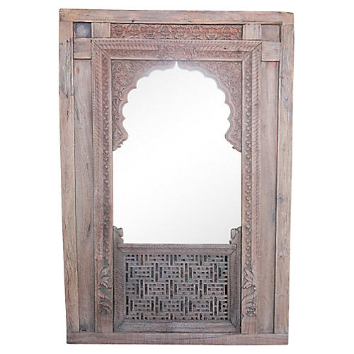 Antique Haveli Arched Window Mirror