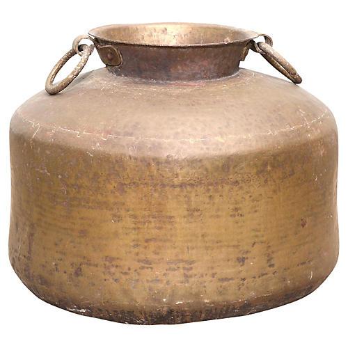 Antique Brass Pot w/ Handles