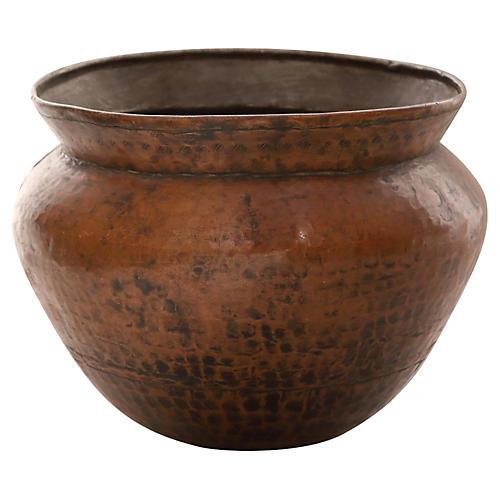 Hand-Hammered Copper Pot