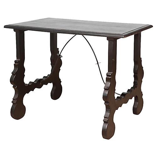 Spanish Lyra Writing Side Table