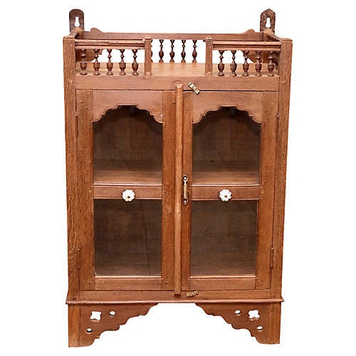 Darling British Colonial Altar Cabinet