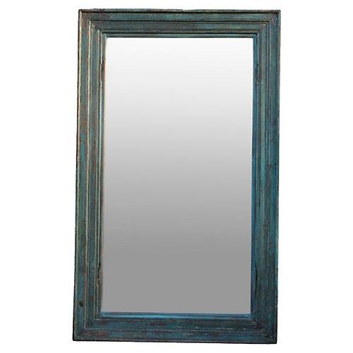 Scandinavian Architectural Blue Mirror