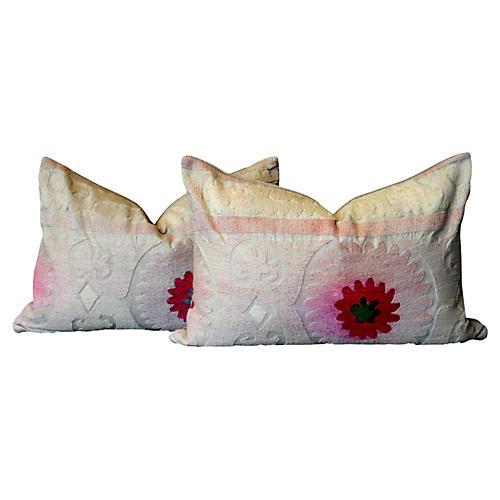 Daudi Suzani Lumbar Pillows, Pair