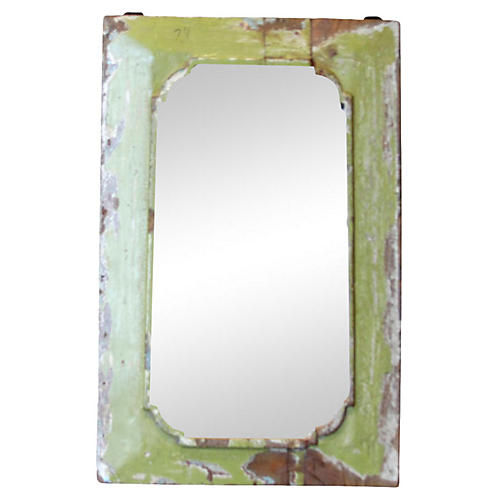 Petite Lime Painted Mirror