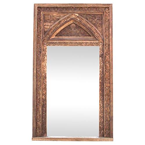 Carved Floor Mirror