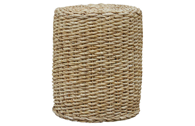 Plantation Woven Round Side Table
