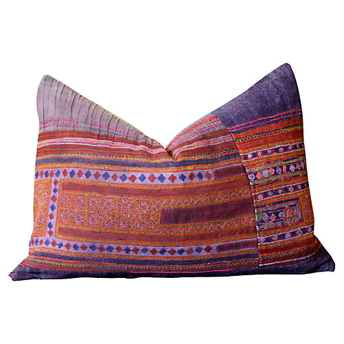 Patchwork Hmong Hill Tribe Pillow