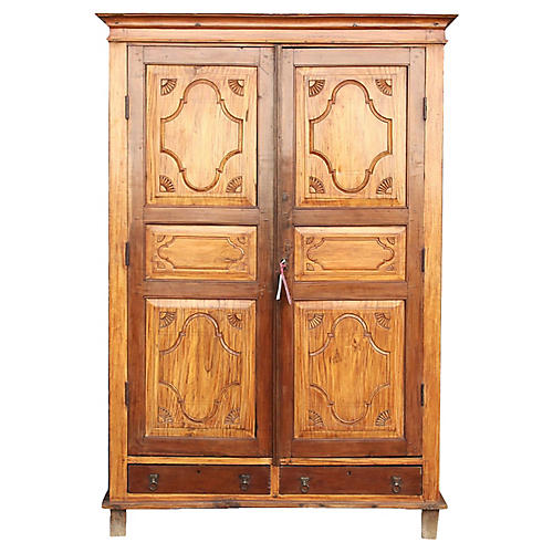 Antique Satin Indo-Portuguese Armoire