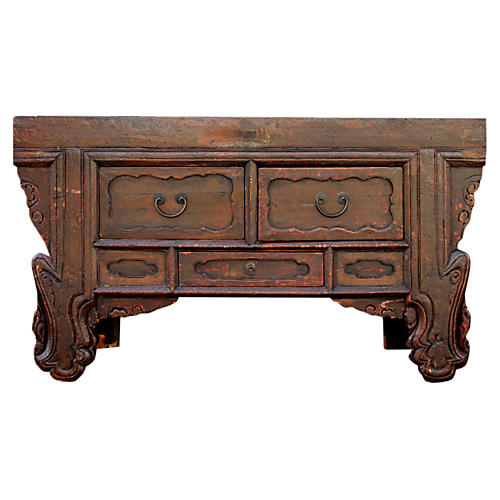 Antique Chinese Scrolled Console