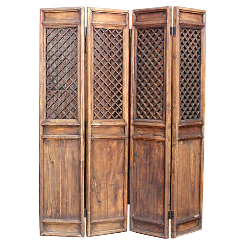 Chinese 4-Panel Screen Room Divider