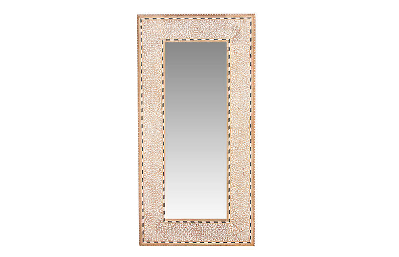 Small Pattee Bone Inlay Mirror