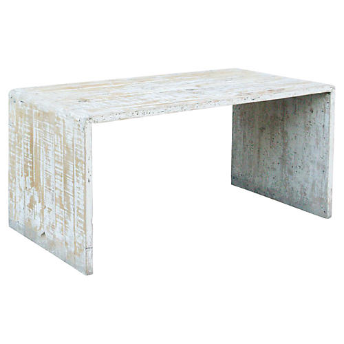 Rustic Farmhouse Whitewash Table