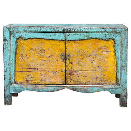 Painted Asian Buffet Cabinet