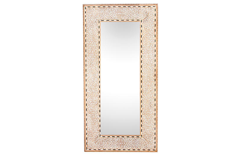 Pattee Foliage Bone Inlay Mirror