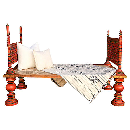 19th-C Indian Daybed
