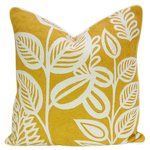 Marigold Kashmiri Native Pillow