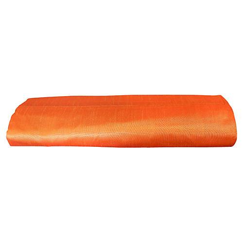 Orange Silk-Blend Duvet Cover, King