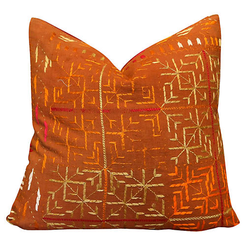 Chaitri Bagh Phulkari Pillow