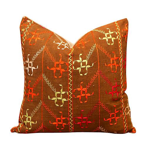 Kinar Bagh Phulkari Pillow
