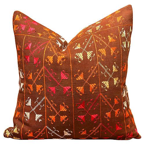 Sitar Bagh Phulkari Pillow