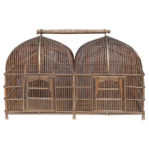 Vintage Hanging Birdcage