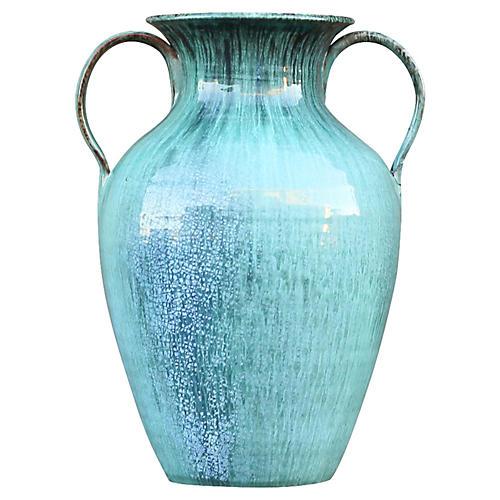 Turquoise Galloway Glazed Vase
