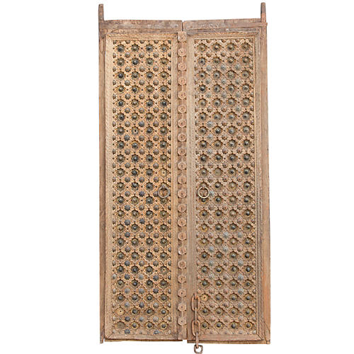 18th Century Anglo Carved Palcace Doors