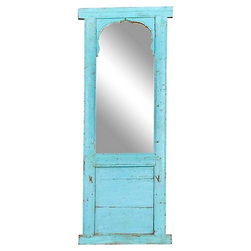 Antique Haveli Blue Floor Mirror