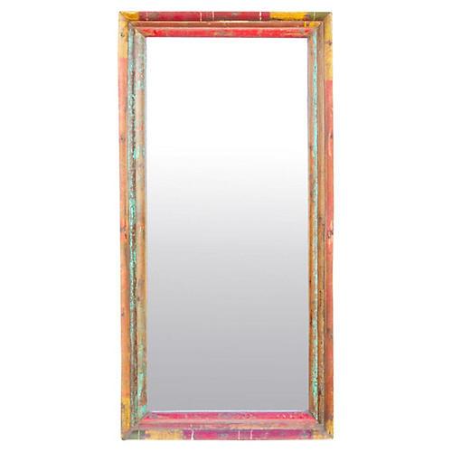 Antique Portuguese Painted Mirror