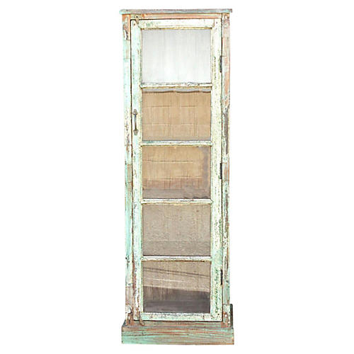 Early 20th Century Painted Glass Cabinet