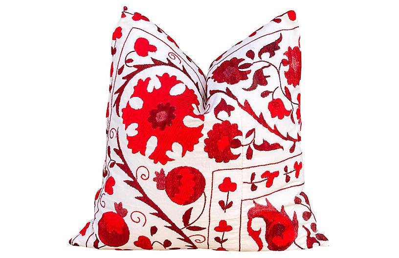 Rakti Royal Red Suzani Pillow
