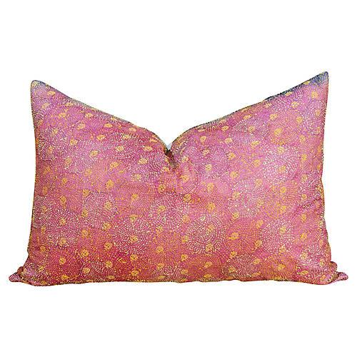 Rakti Chakra Kantha Silk Pillow