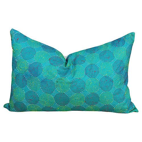 Ocean Chakra Kantha Silk Pillow