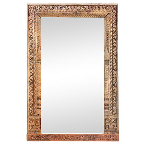 Antique Carved Phula Mirror